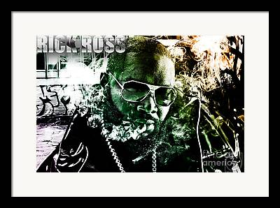 Rick Ross Mixed Media Framed Prints