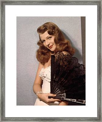 Rita Hayworth, Ca. 1940s Framed Print by Everett