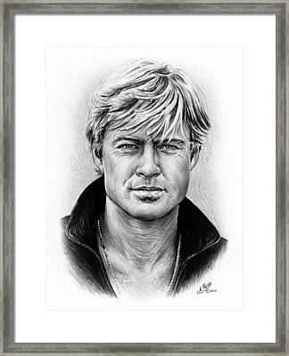 Robert Redford Framed Print by Andrew Read