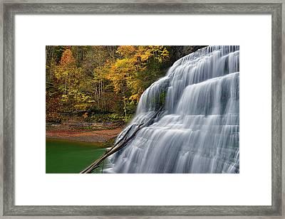 Robert Treman Sp Lower Falls Framed Print