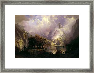 Rocky Mountain Landscape Framed Print
