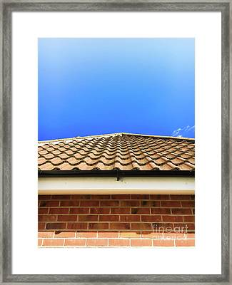 Roof Tiles Framed Print by Tom Gowanlock