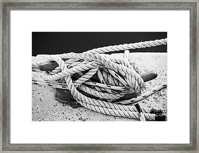 Ropes On Cleat Framed Print