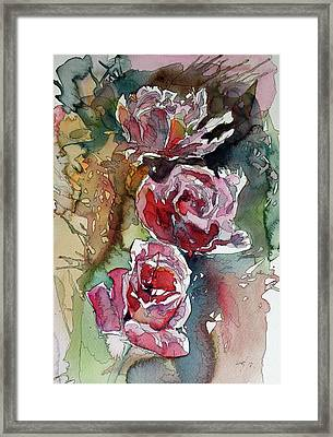 Framed Print featuring the painting Roses by Kovacs Anna Brigitta