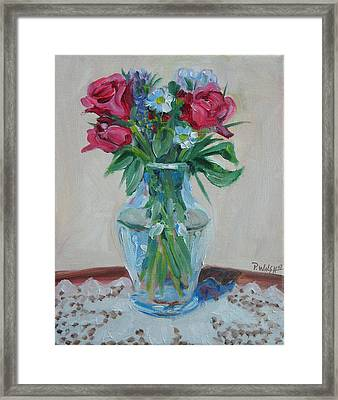 3 Roses Framed Print by Paul Walsh