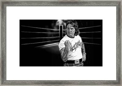 Rowdy Roddy Piper Wrestling Collection Framed Print by Marvin Blaine