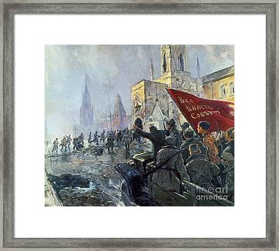 Russian Revolution, 1917 Framed Print by Granger