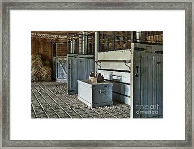 Rustic Stable Framed Print by John Greim