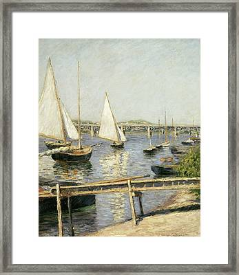 Sailing Boats At Argenteuil Framed Print