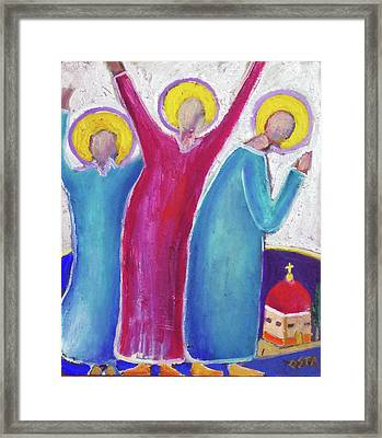 3 Saints Framed Print by Andrew Osta