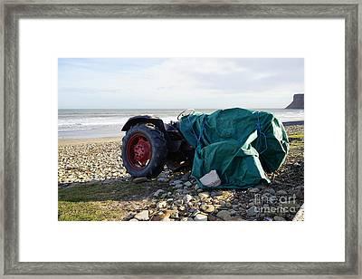 Saltburn On Sea Framed Print by Nichola Denny