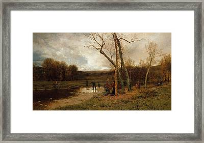 Saturday Afternoon Framed Print by Jervis McEntee