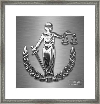 Scales Of Justice Collection Framed Print by Marvin Blaine