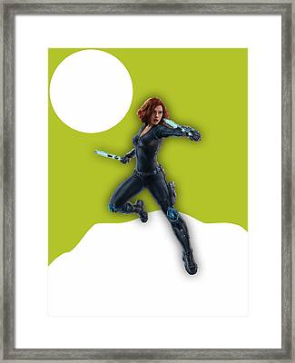 Scarlett Johansson Black Widow Framed Print