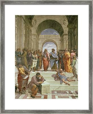 School Of Athens Framed Print