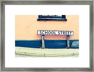School Street Framed Print
