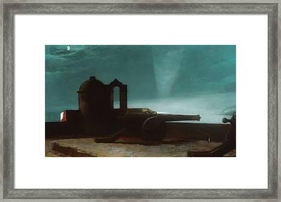 Searchlight On Harbor Entrance - Santiago De Cuba Framed Print