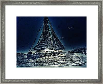 Seascape Sailing Framed Print by Scott D Van Osdol