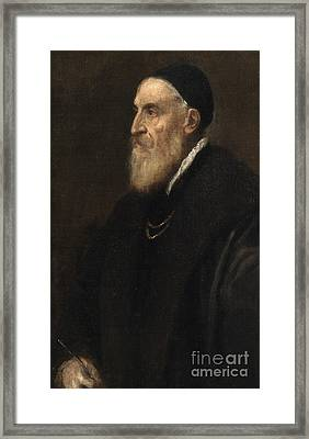 Self Portrait Framed Print by Titian