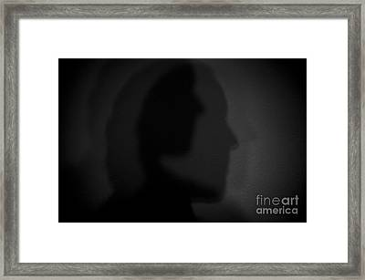 Shadows On Wall Framed Print by Jim Corwin
