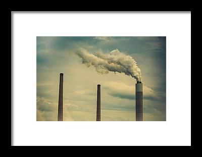 Smoke Framed Prints