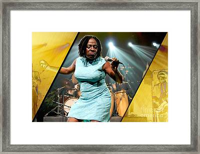 Sharon Jones And The Dap-kings Collection Framed Print by Marvin Blaine
