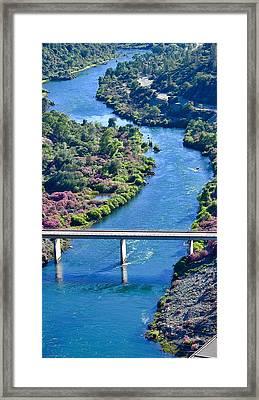 Shasta Dam Spillway Framed Print