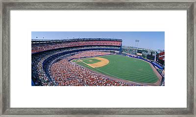 Shea Stadium, Ny Mets V. Sf Giants, New Framed Print