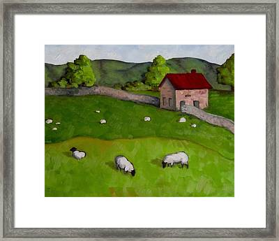 3 Sheep On The Farm Framed Print by Amy Higgins