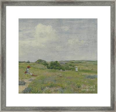 Shinnecock Hills Framed Print by William Merritt Chase