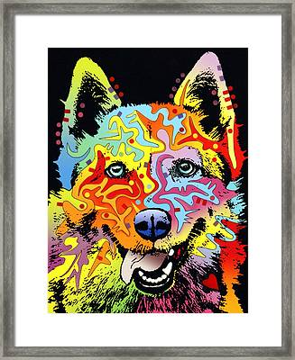 Siberian Husky Framed Print by Dean Russo