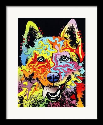 Husky Mixed Media Framed Prints