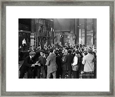 Silent Film Still: Crowds Framed Print by Granger