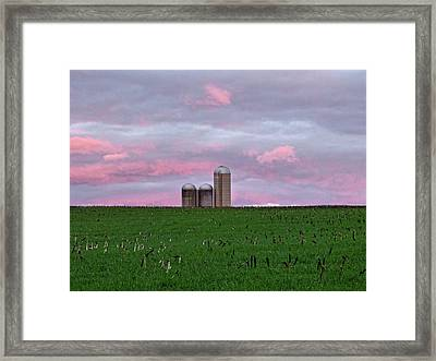 Framed Print featuring the photograph 3 Silos by Robert Geary