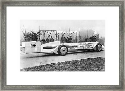 Silver Bullet Race Car Framed Print by Underwood Archives