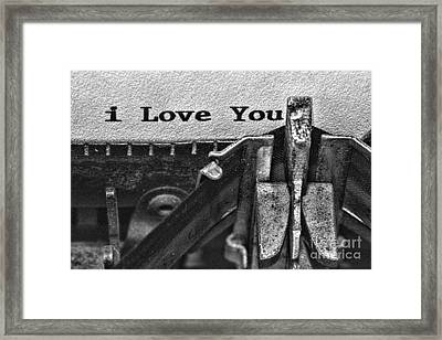 3 Simple Words In Black And White Framed Print by Paul Ward