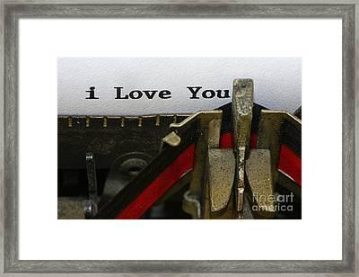 3 Simple Words Framed Print by Paul Ward
