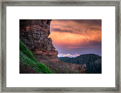 3 Sisters From Iron Mountain Framed Print by Jeffrey Green