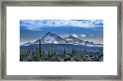 3 Sisters Of Oregon Cascades Framed Print