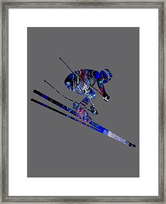 Skiing Collection Framed Print by Marvin Blaine