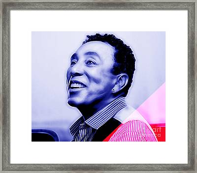 Smokey Robinson Collection Framed Print by Marvin Blaine