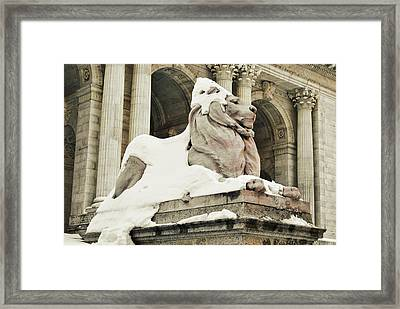 Library Winter Framed Print by JAMART Photography