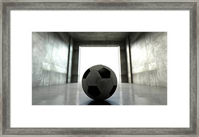 Soccer Ball Sports Stadium Tunnel Framed Print by Allan Swart