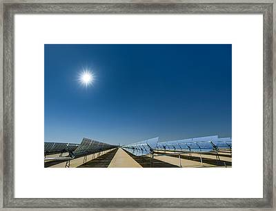Solar Power Plant, California, Usa Framed Print