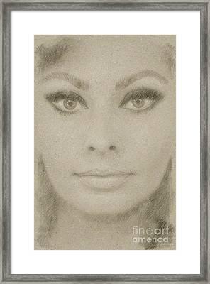 Sophia Loren Hollywood Actress Framed Print