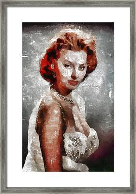 Sophia Loren Hollywood Actress Framed Print by Mary Bassett