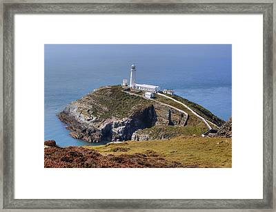 South Stack - Wales Framed Print by Joana Kruse