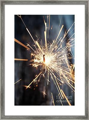 Sparkler Framed Print