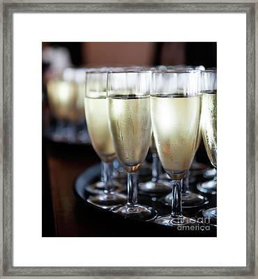 Sparkling Wine Framed Print by Kati Molin