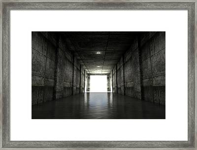 Sports Stadium Tunnel Framed Print by Allan Swart